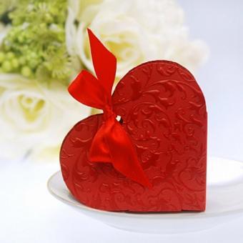10 Geschenkboxen rotes Herz