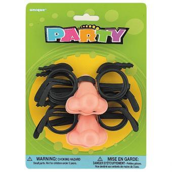 4 Spass-Brillen mit Nase