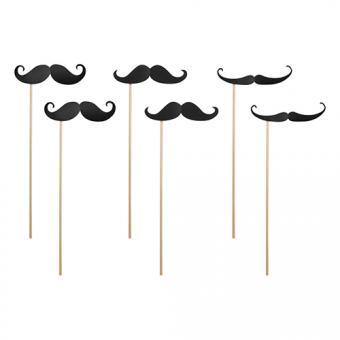 6 Foto-Props Bart Black Moustache