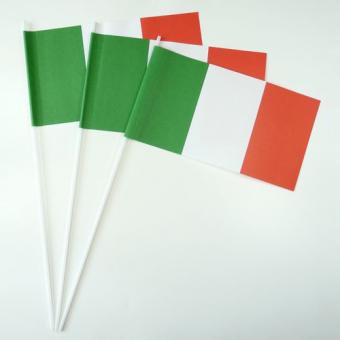 Fähnchen Italien aus Papier 12x24cm