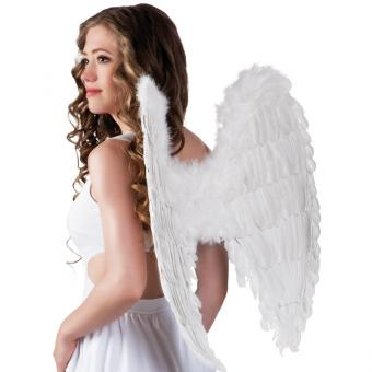 Flügel Engel 65x65cm weiß WEISS