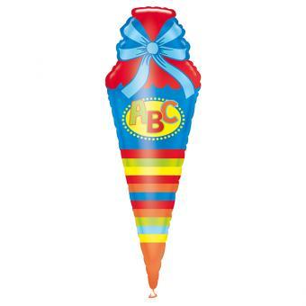 Folienballon Schultüte  Bunt 35x111cm
