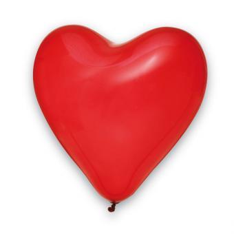 25 Herzballons Rot ø35cm