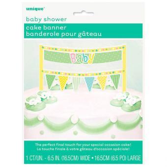 Kuchenbanner für Baby Shower mit Polka Dots