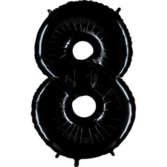 Folienballon Riesenzahl Schwarz #8 100cm