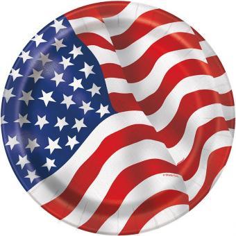 Pappteller USA ø23cm 8 Stück