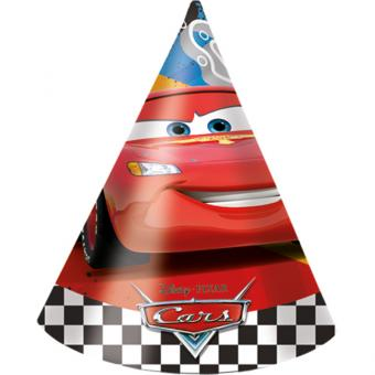 Partyhüte Cars Formula 6 Stück