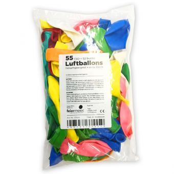 Latexballons Bunter Mix 22cmø 55 Stück