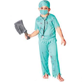 Kinderkostüm Zombie-Chirurg 5-6J.