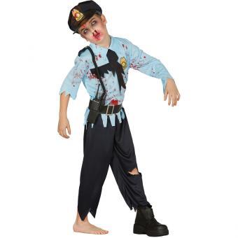 Kinderkostüm Zombie-Polizist
