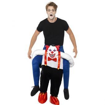 Böser Clown Huckepack-Kostüm