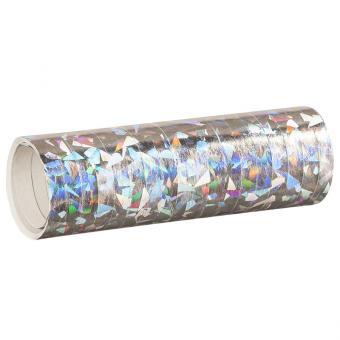Luftschlangen Holografisch Silber 1 Rolle 4m