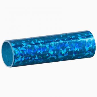 Luftschlangen Holografisch Blau 1 Rolle 4m