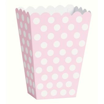 8 Snackboxen Dots Punkte in Rosa
