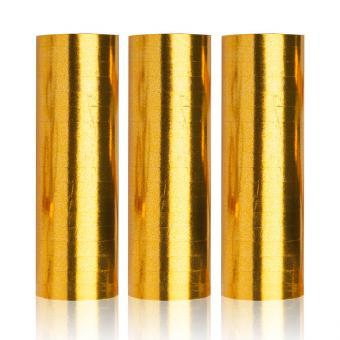 Luftschlangen Metallic Gold 3 Stück