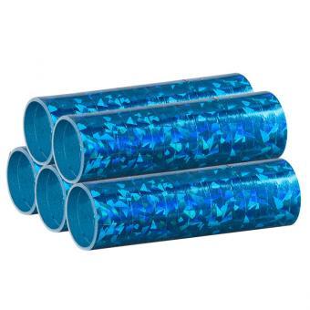 Luftschlangen Holografisch Blau 5 Rollen