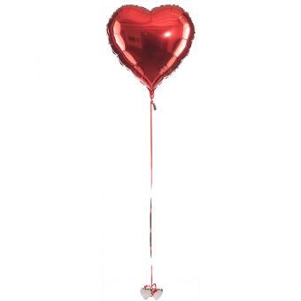 Ballon Bouquet Folienballon Herz XXL 90cm∅ gefüllt