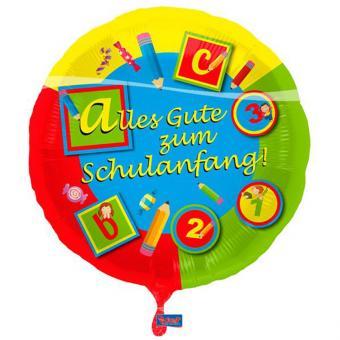 Folienballon Alles Gute zum Schulanfang 43cmØ