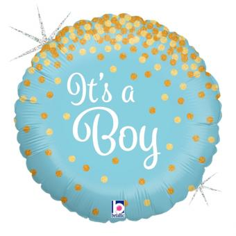 Folienballon It's a Boy Glitter 45cmØ