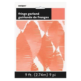 Fransen-Girlande in Koralle 274cm