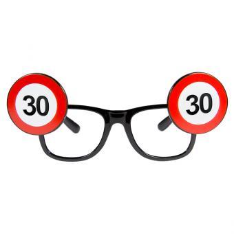 Partybrille Verkehrsschild Zahl 30