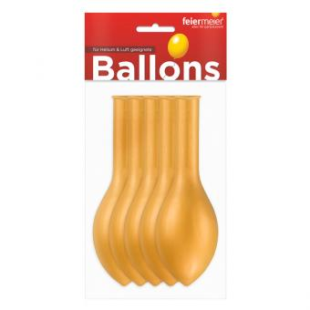 Latexballons Metallic Gold 30cm 5 Stück