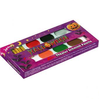 MakeUp Set Halloween mit 6 Farben & 4 Stiften
