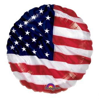 Folienballon USA rund 45cmØ