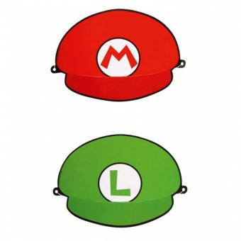 Partyhüte Super Mario & Luigi 8 Stück