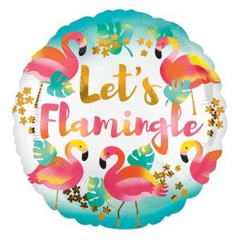 Folienballon Let's Flamingle ø43cm