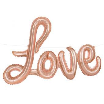 Ballongirlande Love Rosegold