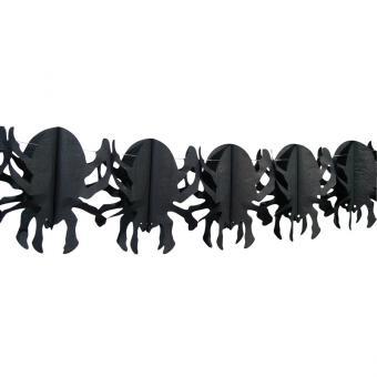 Papier-Girlande Spinnen 4m