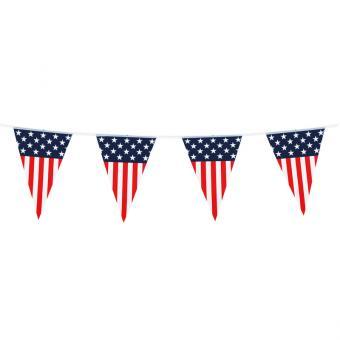 USA Wimpelkette Stars & Stripes Wetterfest 6m