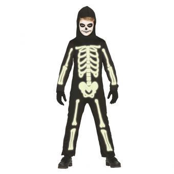 Kinderkostüm Skelett nachtleuchtend 5-6J.