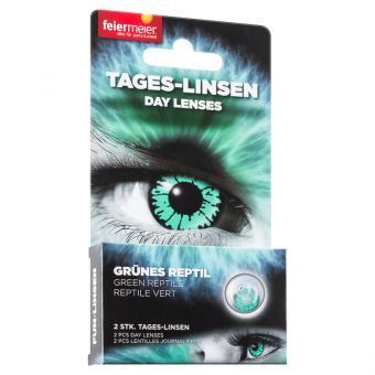 Kontaktlinsen Grünes Reptil Grün (Tageslinsen)