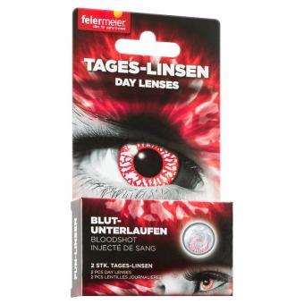 Kontaktlinsen Blut unterlaufen