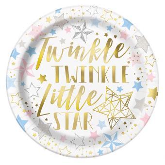 Pappteller Twinkle Twinkle 23 cm 8 Stück