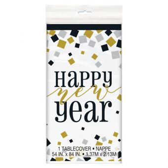 Tischdecke PVC Happy New Year 137x213cm