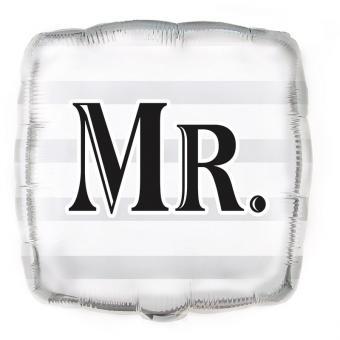 Folienballon Mr Hochzeit silber 45cmØ