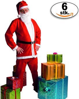 Kostüm Weihnachtsmann Eco im 6er Pack