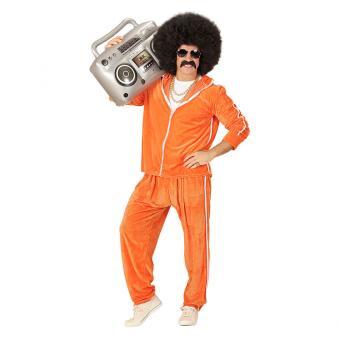 Kostüm 80er Trainingsanzug Orange Gr. S