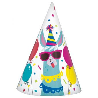 Partyhüte Birthday Lama 8 Stück