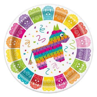 Pappteller Mexican Fiesta 23cmØ 8 Stück