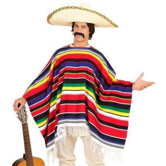 Kostüm Poncho gestreift