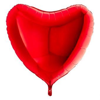 Folienballon Herz 90cmØ Rot