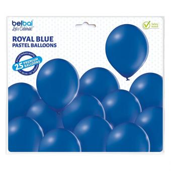 Latexballons Pastell Royalblau 30cmØ 25 Stück
