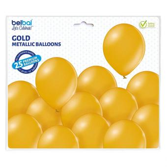 Latexballons Metallic Gold 30cmØ 25 Stück