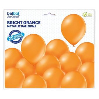 Latexballons Metallic Orange 30cmØ 25Stück