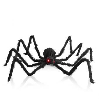 Spinne mit rot leuchtenden LED-Augen, ca.100 cm