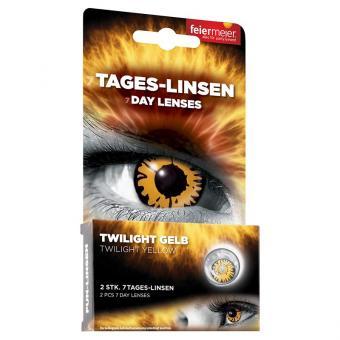 Kontaktlinsen Twilight Gelb (Wochenlinsen)